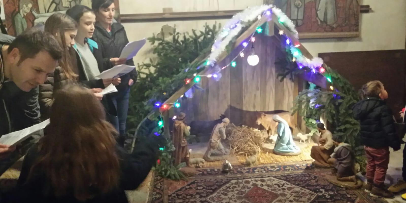 Crèche de Noël à La Motte Tilly