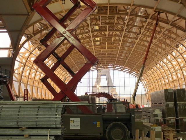 Grand Palais éphémère chantier