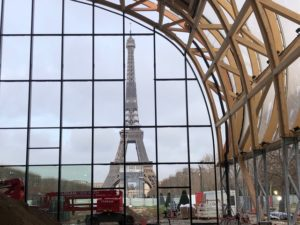 Vue Tour Eiffel grand palais ephemere